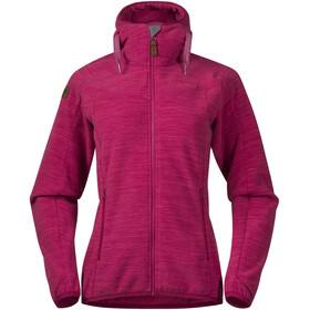 Bergans Hareid Fleece Jacket Dame bougainvillea melange